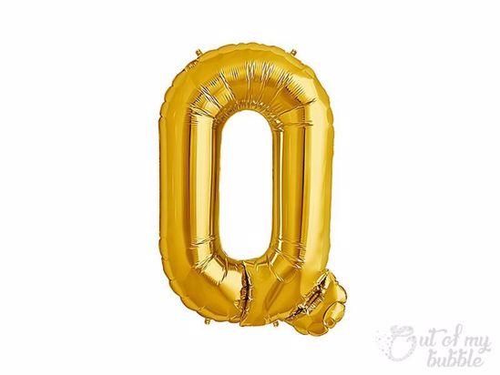 Gold foil balloon letter Q