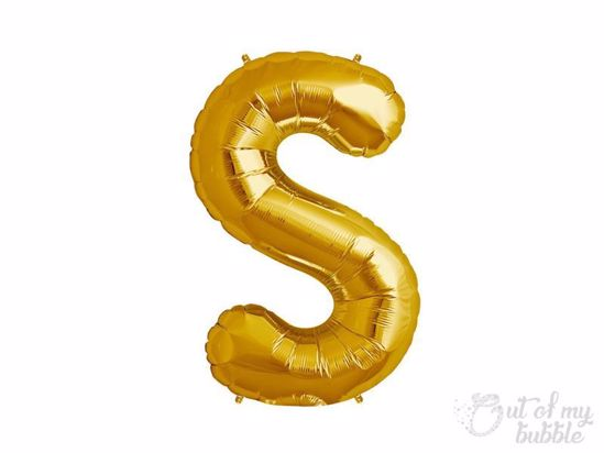 Gold foil balloon letter S