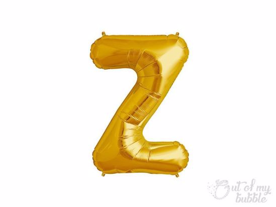 Gold foil balloon letter Z
