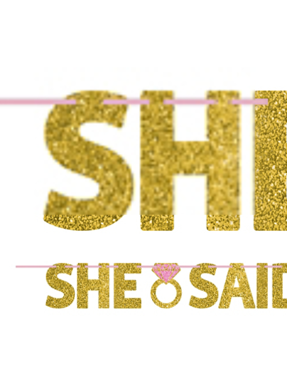 Picture of She Said Yes Glittery Letter Banner