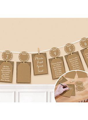 Picture of Rustic Wedding Chart Seating Garland