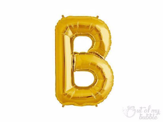 Gold foil balloon letter B