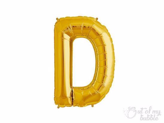Gold foil balloon letter D