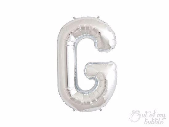 Silver foil balloon letter G