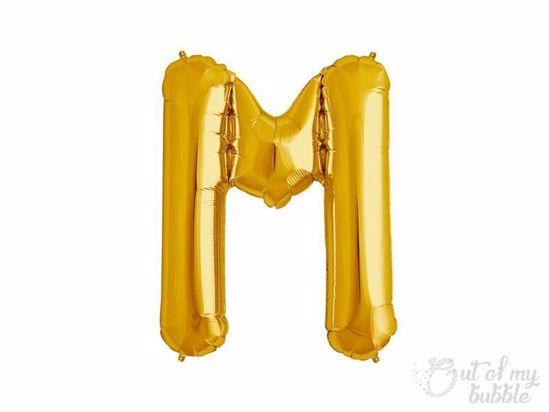 Gold foil balloon letter M