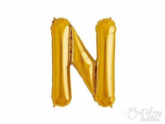 Gold foil balloon letter N