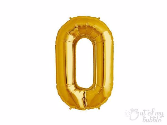 Gold foil balloon letter O