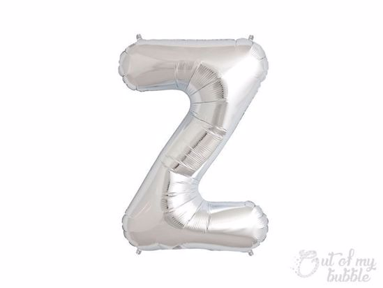 Silver foil balloon letter Z
