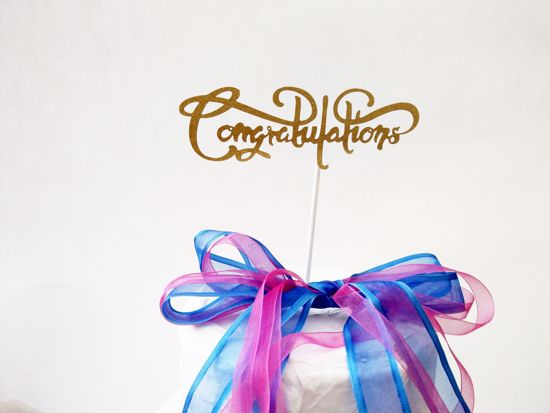 Picture of Congratulations Cake Topper