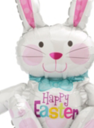 Picture of Foil Sitting Easter Bunny Balloon