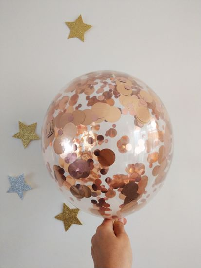 Picture of Rose Gold Confetti Balloons