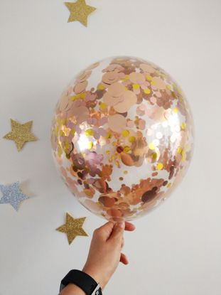 Picture of Rose Gold Balloons Clear Mixed Confetti