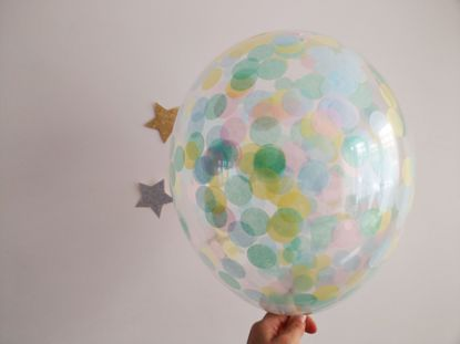 Picture of Icecream Confetti Balloons Mint Blush Blue Pink
