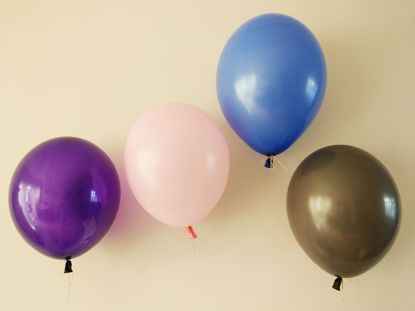 Picture of Purple Royal Blue Copper Blush Pink Balloons Pack
