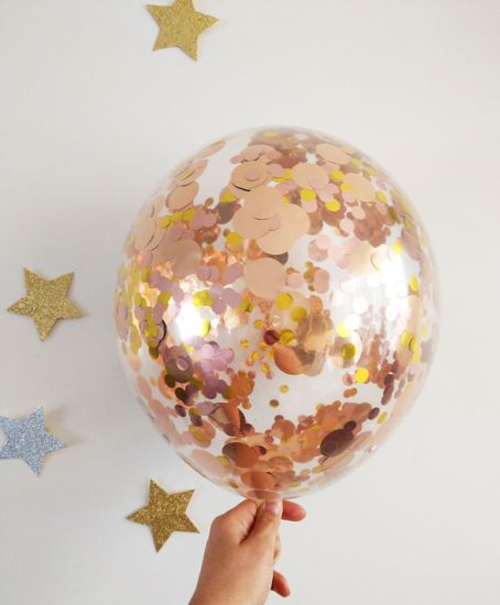 Picture of Rose Gold Confetti Balloons Pack