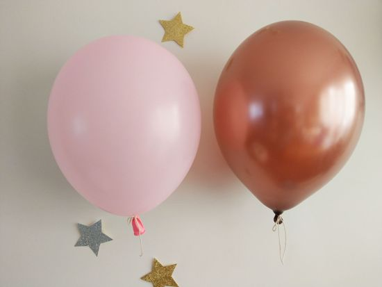 Picture of Copper Blush Pink Balloons Bouquet