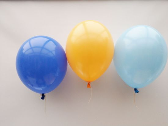 Picture of Royal Blue Yellow Balloons Bouquet