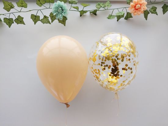 Picture of Blush Balloons Gold Confetti Bouquet