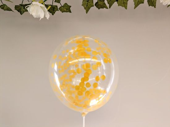 Picture of Yellow Confetti Balloons Ceiling Bouquet