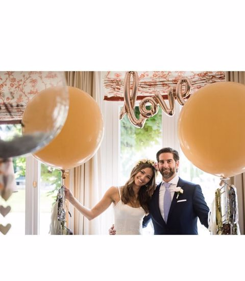 """Picture of Blush Balloons Giant 36"""" Wedding"""