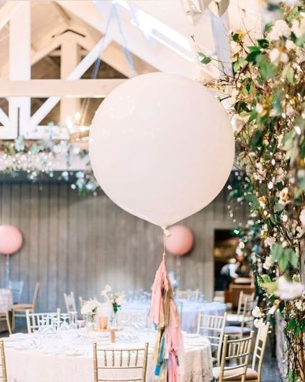 """Picture of Blush Balloons and Tail Giant 36"""" Wedding"""