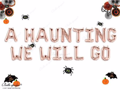 Picture of A HAUNTING WE WILL GO HALLOWEEN BALLOONS LETTERS GARLAND