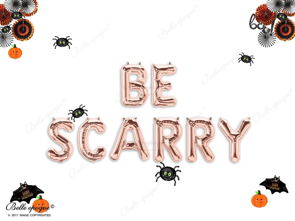 BE SCARY HALLOWEEN BALLOONS LETTERS GARLAND