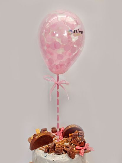 Picture of Blush Pink Confetti Balloon Cake Topper