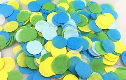 Picture of Tissue Paper Confetti Balloons Turquoise Lime Yellow