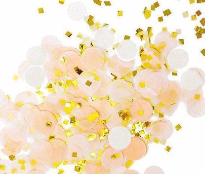 Picture of Tissue Paper Confetti Balloons Peach White Gold