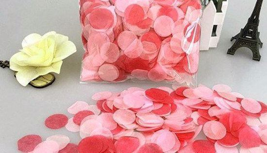 Picture of Valentines Tissue Paper Confetti Balloons Red Pink