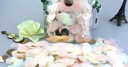 Picture of Rose Gold Tissue Paper Confetti Balloons Blush Pink