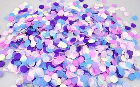 Picture of Unicorn Pastel Tissue Paper Confetti Balloons Pink Purple Silver Blue