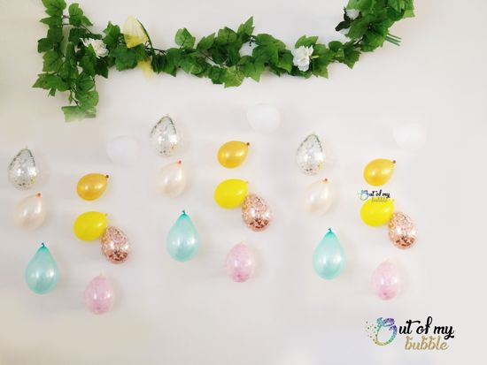 Picture of Balloon Banner Raindrop Garland