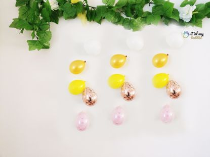 Picture of Rose Gold Balloon Confetti Banner Raindrop Garland