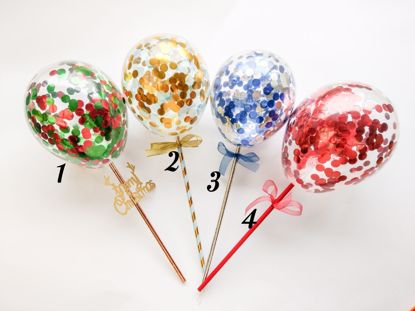 Picture of Cake Topper  Balloon Confetti Designs