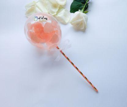 Picture of Cake topper Balloon Confetti Peach Hearts