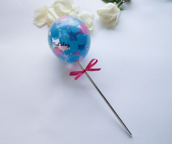 Picture of Cake topper Balloon Confetti Turquoise Hot Pink