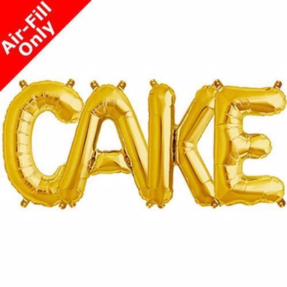 Picture of CAKE Letters 16 Inch 40 cm Foil Balloons Sweet Table
