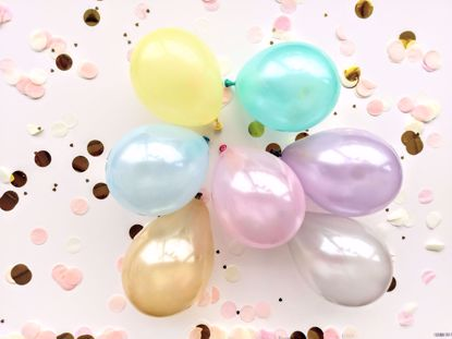 "Picture of 5"" PASTEL LATEX MINI BALLOONS CORAL MINT"