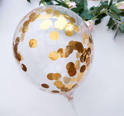 Picture of Congratulations Rose Gold Silver Confetti