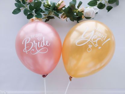 Picture of Rose Gold Balloons Bride To Be She Said Yes