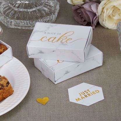 Picture of Marble Cake Favor Box Wedding