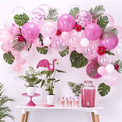 Picture of Pink Balloon Garland Arch - 70 Balloons