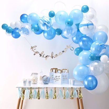 Picture of Blue Balloon Garland Arch - 70 Balloons