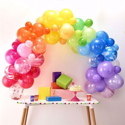Picture of Rainbow Balloon Garland Arch - 85  Balloons