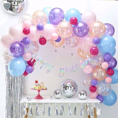 Picture of Pastel Balloon Garland Arch - 80 Balloons