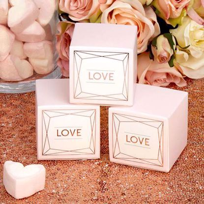 Picture of Wedding Favour Boxes Geo Blush Love