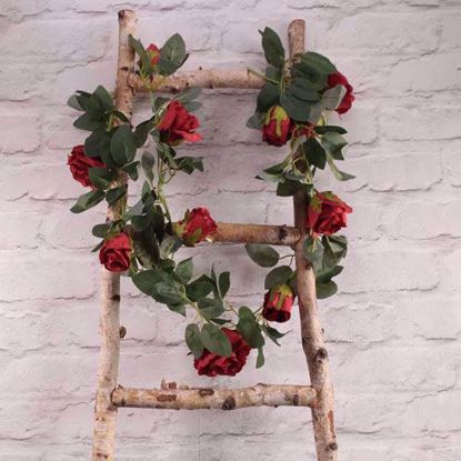 Picture of RED ROSE GARLAND FLOWER TAIL