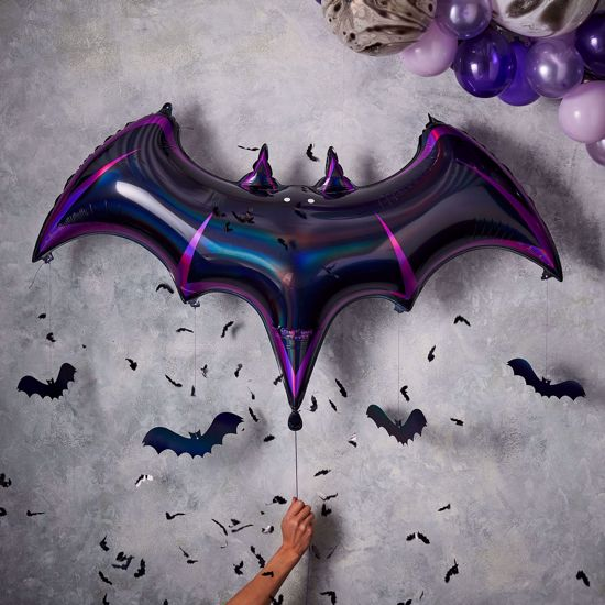 Picture of BAT BLACK FOIL HALLOWEEN BALLOON - LET'S GET BATTY